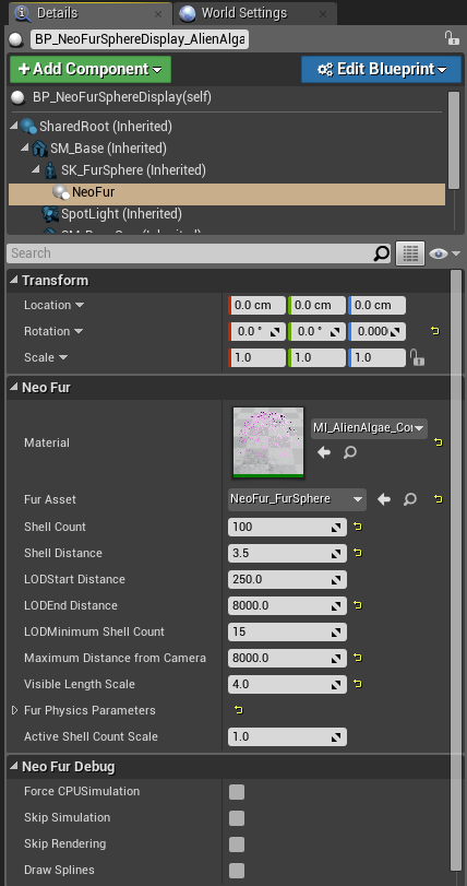 Using Material Packs for Unreal / NeoFur for Unreal